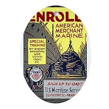 Merchant Marine Oval Ornament