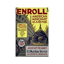 Enroll in the Merchant Marine Rect Mag (10 pack)