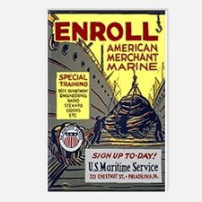 Enroll in the Merchant Marine Postcards (Pk of 8)