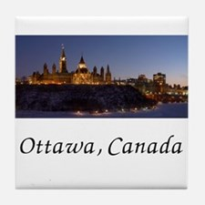 Cute Capital Tile Coaster