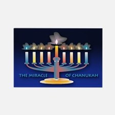Chanukah Menorah Rectangle Magnet