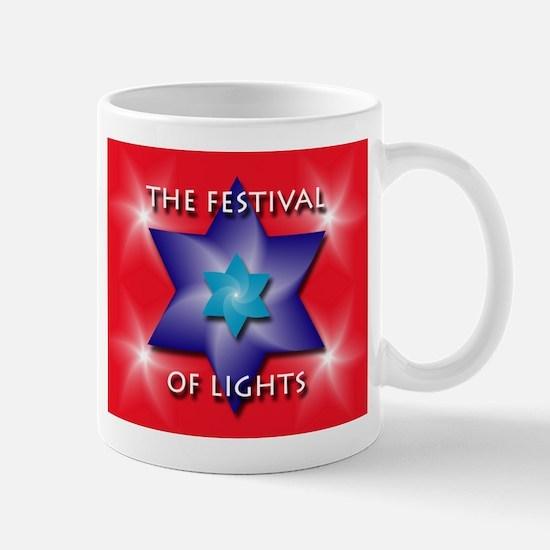 Festival of Lights Jewish Star Mug