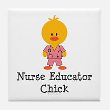 Nurse Educator Chick Tile Coaster