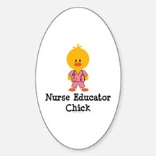 Nurse Educator Chick Oval Decal