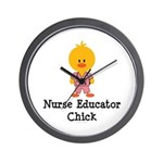 Nurse Educator Chick Wall Clock