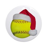 Girls softball christmas Ornaments