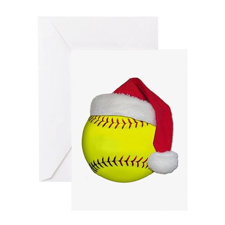 Softball Santa Greeting Card