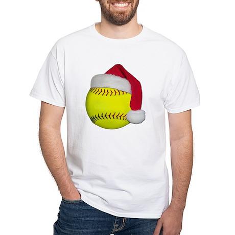 Softball Santa White T-Shirt