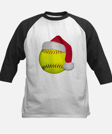 Softball Santa Kids Baseball Jersey