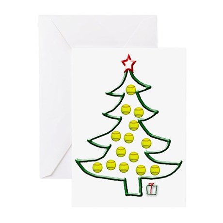 Softball tree Greeting Cards (Pk of 10)