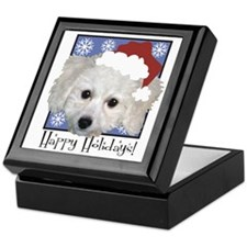 Haley Santa Blue Keepsake Box