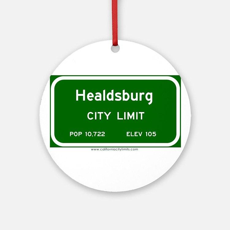 Healdsburg Ornament (Round)