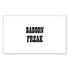 BABOON FREAK Rectangle Decal