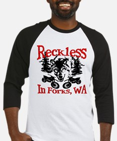 Reckless in Forks Baseball Jersey