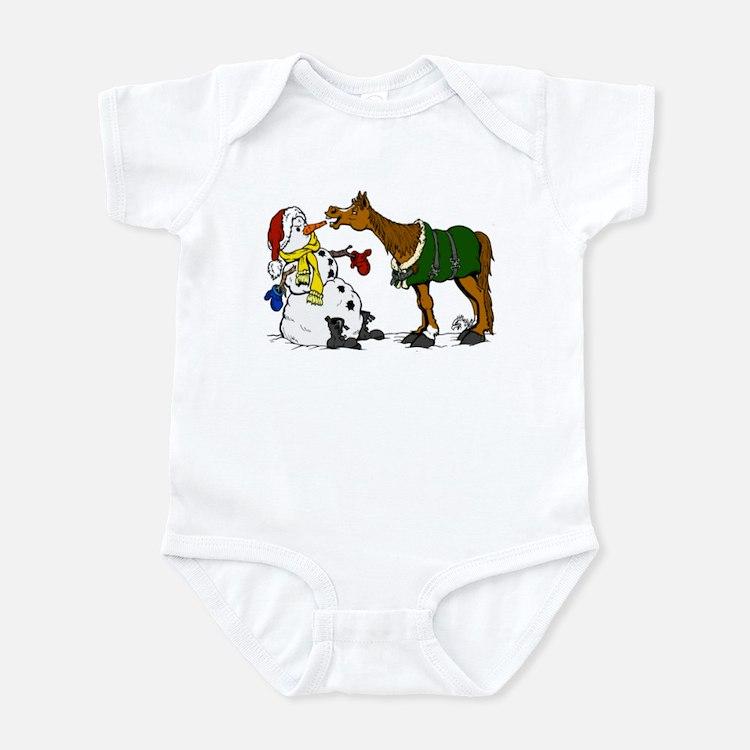 Snowman & horse Infant Bodysuit