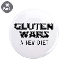 """Gluten Wars: A New Diet 3.5"""" Button (10 pack)"""