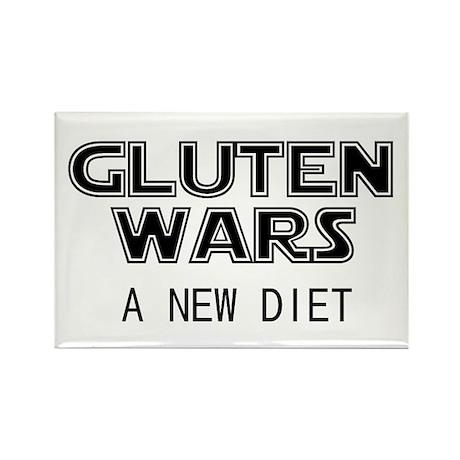 Gluten Wars: A New Diet Rectangle Magnet