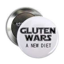 "Gluten Wars: A New Diet 2.25"" Button (100 pack)"