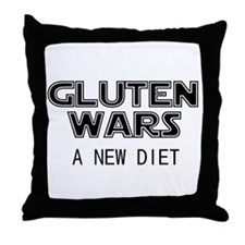 Gluten Wars: A New Diet Throw Pillow