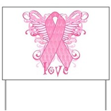 Pink Ribbon Love Yard Sign