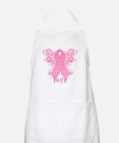 Pink Ribbon Love Apron