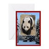 Panda bear cards Greeting Cards