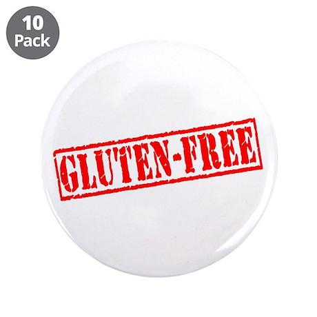 """Gluten Free Stamp 3.5"""" Button (10 pack)"""