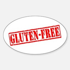 Gluten Free Stamp Oval Decal