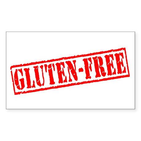 Gluten Free Stamp Rectangle Sticker
