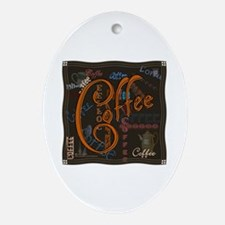 Coffee Spice Oval Ornament