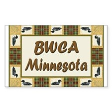 BWCA Loon Rectangle Decal