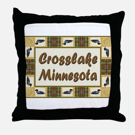 Crosslake Loon Throw Pillow