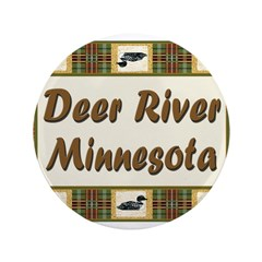 """Deer River Loon 3.5"""" Button"""