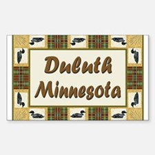 Duluth Loon Rectangle Decal