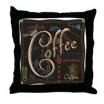 Coffee Mocha Throw Pillow