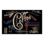 Coffee Mocha Rectangle Sticker 50 pk)