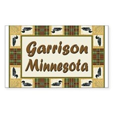 Garrison Loon Rectangle Decal