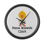 Nurse Midwife Chick Large Wall Clock