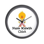 Nurse Midwife Chick Wall Clock