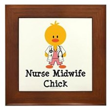 Nurse Midwife Chick Framed Tile