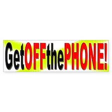 GEt off the Phone Bumper Car Sticker