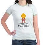 Oncology Nurse Chick Jr. Ringer T-Shirt