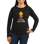 Oncology Nurse Chick Women's Long Sleeve Dark T-Sh