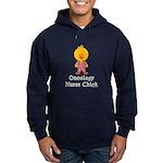 Oncology Nurse Chick Hoodie (dark)