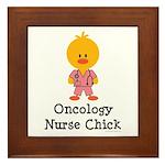 Oncology Nurse Chick Framed Tile