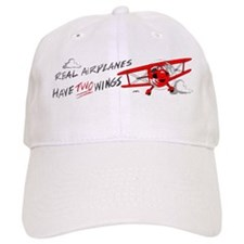 Real airplanes have TWO WINGS Baseball Cap