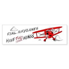 Real airplanes have TWO WINGS Bumper Bumper Sticker
