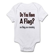 no flag no country! Infant Bodysuit