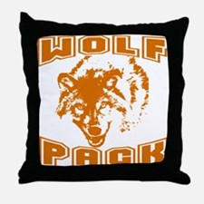 Wolf Pack ~ Russet Throw Pillow