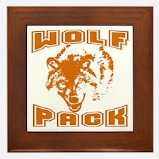 Wolf Pack ~ Russet Framed Tile